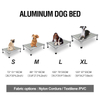 High quality Factory Outdoor Medium Large Aluminium alloy frame dog bed