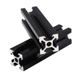 Supply black 2020 2040 2060 2080 v slot aluminum extrusion profile 3D printer